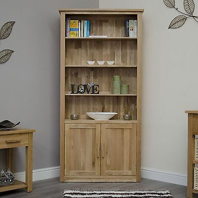 Arden solid oak office living room furniture large cupboard bookcase with door