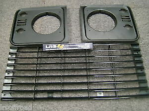 Land Rover Defender Front Standard Grill And Light Surrounds Kit