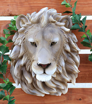 Lion Aslan Head Bust Hanging Wall Mount Home Decor Collection Statue Figurine