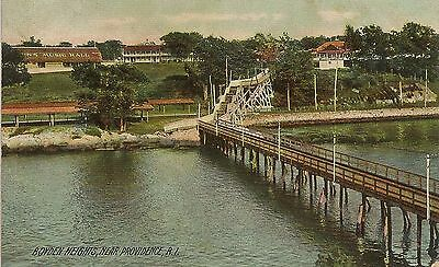 Boyden Heights Amusement Park Near Providence RI Postcard 1907
