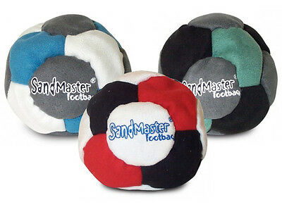 SandMaster footbag hacky sack dirtbag sand filled - Pack of THREE