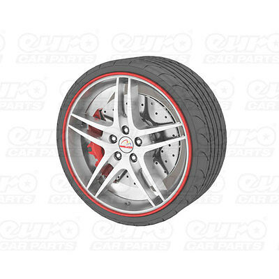 """Universal Alloy Wheel Protector Fits Wheels Up To 22"""" Prevents Kurb Marks Red"""