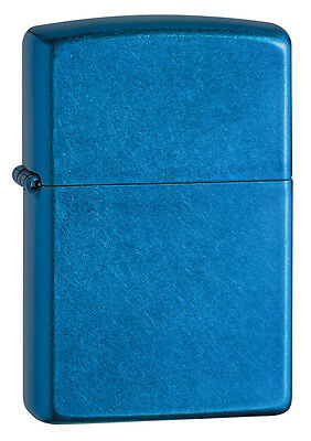 Zippo Windproof Cerulean (blue) LIghter, # 24534, New In Box
