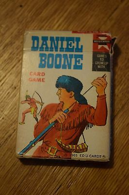 Vintage Daniel Boone Card Game 1965 Ed-U Cards 34 Cards + Instructions Childrens