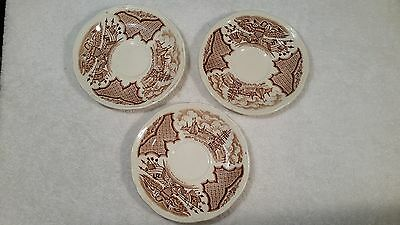Fair Winds Alfred Meakin Staffordshire England Tea Cup Saucers 3 total FREE SHIP