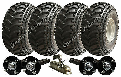 Twin axle ATV trailer kit, Quad trailer, wheels hub & stub + hitch 620kg P308
