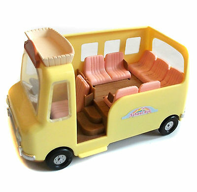 SYLVANIAN FAMILY toys SCHOOL BUS Vehicle for use with figures