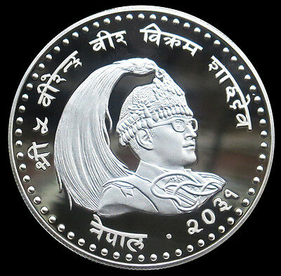 1974 Silver Nepal 100 Rupees International Year Of The Child Coin Gem Proof