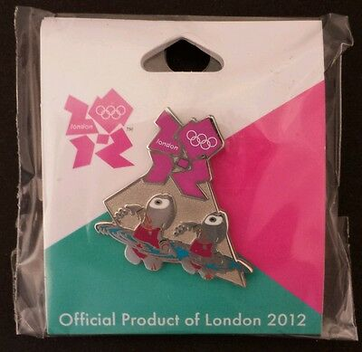 Synchronized Swimming Olympic Pin~2012~Mascot~Wenlock~Official Product of London