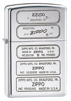 Zippo Windproof  High Polished Chrome Lighter, Bottom Stamp,  28381, New In Box