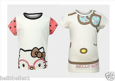 "Girl's ""Hello Kitty"" T Shirts 12 18 24Mths 2 3 4 5 6 7 8 9 10 11 12 Years"