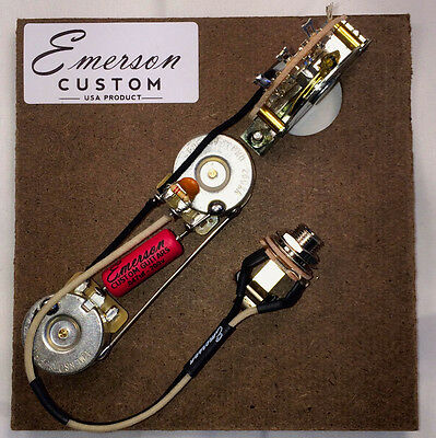 Prewired Kit T5 Nashville 5 way 250k Emerson Custom fits to Telecaster ®