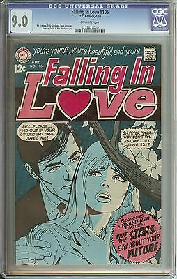 Falling In Love #106 Cgc 9.0 Ow Pages // Dc Romance