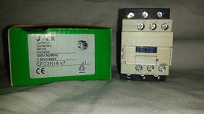 ac contactor 18 amp 7.5kw 3 pole  230 volt coil with 1 N/O and 1 N/C auxilliary