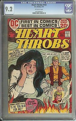 Heart Throbs #143 Cgc 9.2 Ow Pages // Dc Romance