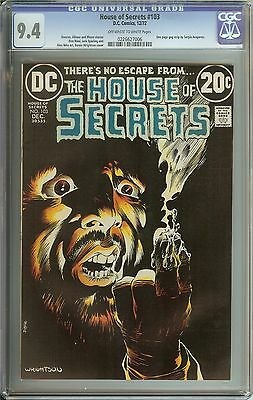 House Of Secrets #103 Cgc 9.4 Ow/wh Pages // Dc Horror