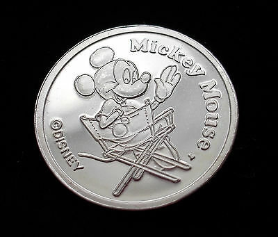1 Mickey & Minnie .999 Walt Disney Small 1/20oz Pure  silver coin Disney +bag_