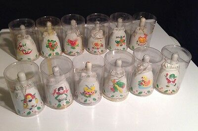 12 Days of Christmas Porcelain Bell Set JC Penny w/Origial Box