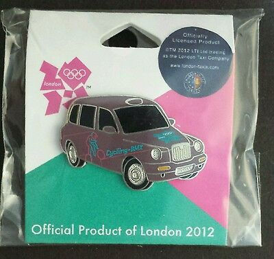 BMX Cycling Olympic Pin Badge~2012~Taxi~New~Official Product of London