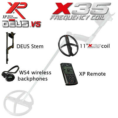 "XP Deus Full V4 with 11"" Coil, Remote & WS4 Backphones"