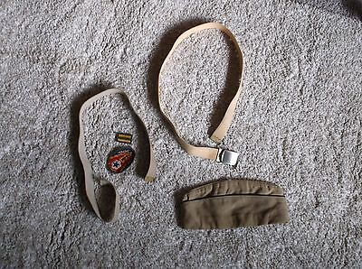 WAC Items.  WWII.  Army.  WAC Hat, Belts, Emblems.  As Found.  Soiled.