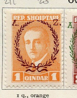 Albania 1927 Early Issue Fine Mint Hinged Optd 1q.  121716