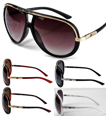 New DG Mens Oversized Retro Vintage Aviator Fashion Designer Sunglasses Pilot 80