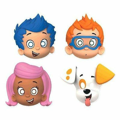 Bubble Guppies Happy Birthday Party Masks 8ct