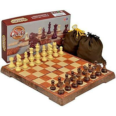 "Full Sized Large Magnetic Chess Set - 9.5"" New"