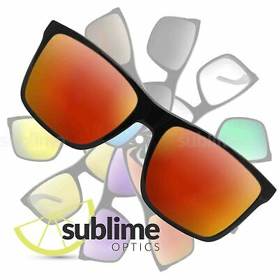 POLARIZED Metallic Fire Red Replacement Lenses for Arnette Witch Doctor  ~ Rojo