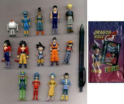 VERY RARE Set 14 Figures DRAGONBALL GT from PANINI ITALY 2001 Premium MINT NEW !