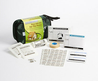 Steroplast Home , Family, Car or Travel First Aid Kit in a handy green zip bag