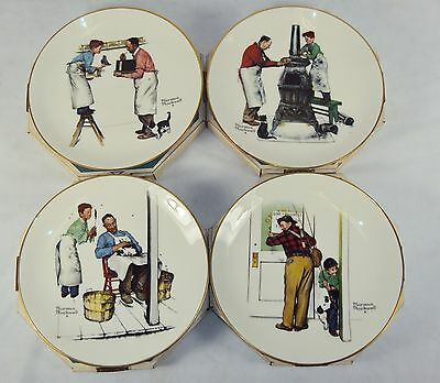 "Norman Rockwell Plates ~ 1979 Set of 4 ""Four Seasons"" ~ Fine GORHAM China"