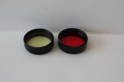 Meade telescope photo visual  piece color filter set Red Yellow  1.25""
