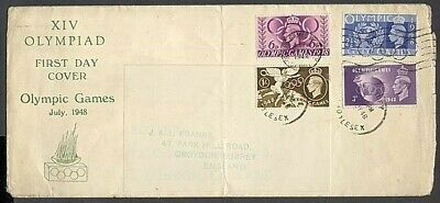 Gb 1948 Olympic Games Fdc Illustrated (Id:281/r31280)