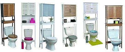 Evideco Over The Toilet Space Saver Cabinet Bath Furniture Free standing