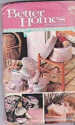 Better Homes And Gardens 6656 For Butterick Boxes Heart Round Oval 1988 Uncut