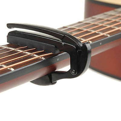 black quick change tuba guitar capo key for electric acoustic new