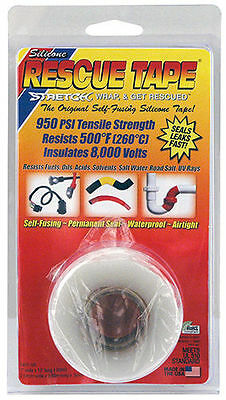 """Silicone Rescue Tape  Stretch, Wrap, And Get Rescued   1"""" X 12' Clear"""