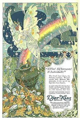 1918 DJER - KISS PERFUME, PARIS, FRANCE COLOR POT OF GOLD ADVERTISEMENT