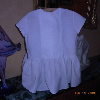 "Robe Fillette Blanche ""materna Paris"" Vintage 60/ Vintage 60 White Girl Dress"