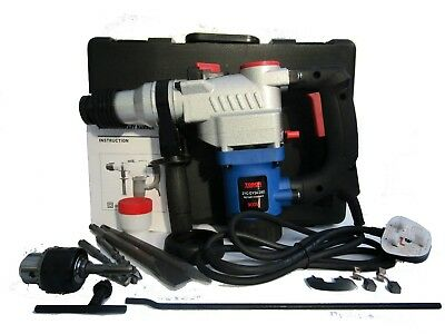 900W Sds+ Rotary Hammer Drill 3 Function 230V With Accessories -New