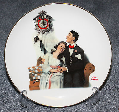 1989 Norman Rockwell Courting @ Midnight Collector Plate Young Love Danbury Mint