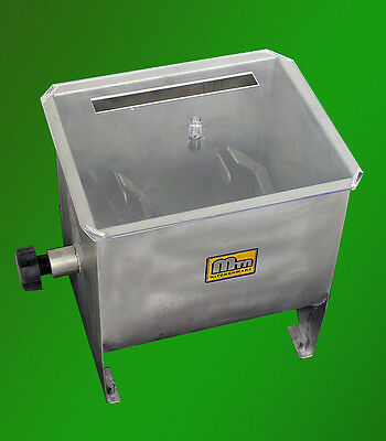 New Commercial Stainless Steel Hand Meat Mixer Blender Processor Deer 32 lbs