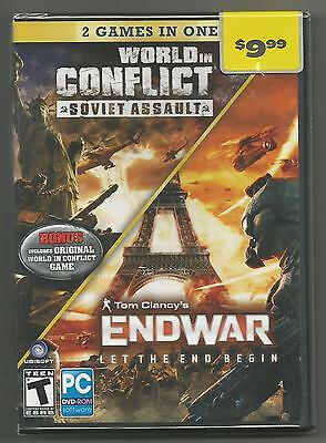 World in Conflict Soviet Assault+Tom Clancy's End War Let the End Begin PC New