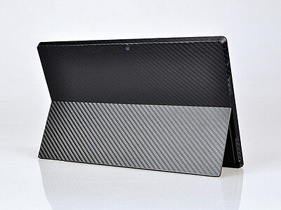 Cool Black Carbon Fiber Sticker Skin Cover Decal For Microsoft Surface RT Tablet