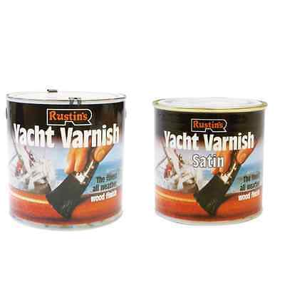 Rustins Yacht Varnish 2.5L/1L/500ML/250ML Clear For Outdoor Selection