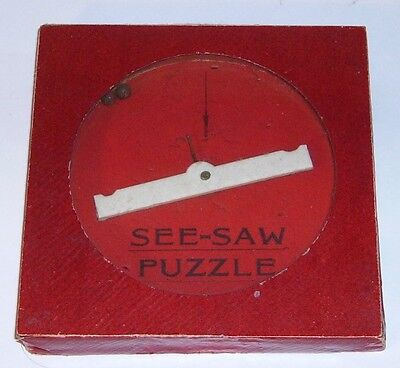 Glevum See-Saw Puzzle glass top dexterity  puzzle