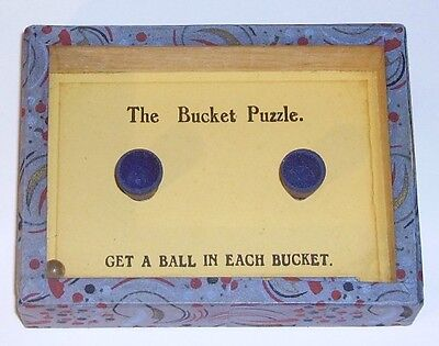 H P Gibson  The Bucket Puzzle glass top dexterity  puzzle