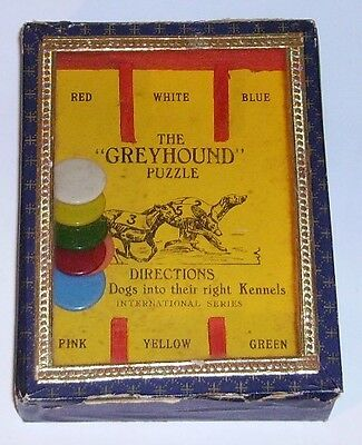 H P Gibson  The Greyhound Puzzle glass top dexterity  puzzle